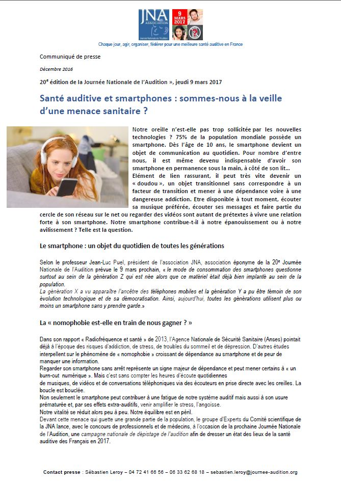 cp sante auditive et smartphone